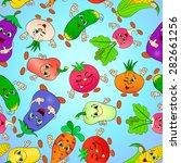 cartoon seamless pattern with... | Shutterstock .eps vector #282661256