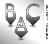 abc pins with metal design for... | Shutterstock .eps vector #282663986