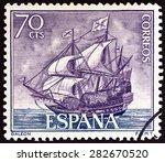 spain   circa 1964  a stamp... | Shutterstock . vector #282670520