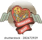 illustration of a mechanical... | Shutterstock .eps vector #282672929