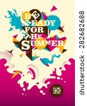 abstract summer poster design.... | Shutterstock .eps vector #282682688