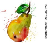abstract watercolor pear... | Shutterstock .eps vector #282682793