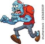 cartoon running zombie. vector... | Shutterstock .eps vector #282683039