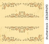 vintage pattern with decorative ... | Shutterstock .eps vector #282689690