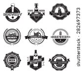 vintage craft beer  brewery... | Shutterstock .eps vector #282697373