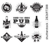 vintage craft beer  brewery... | Shutterstock .eps vector #282697388