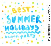 summer watercolor design....   Shutterstock .eps vector #282699740