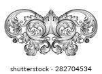vintage baroque frame leaf... | Shutterstock .eps vector #282704534