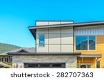 the roof of the house. | Shutterstock . vector #282707363