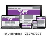 responsive design for web ...   Shutterstock .eps vector #282707378