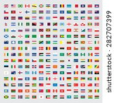 flags of the world set... | Shutterstock .eps vector #282707399