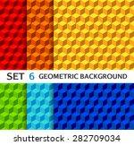 Set Of Bright Geometric...