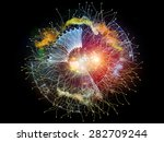 geometry of virtual space... | Shutterstock . vector #282709244