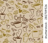 coffee illustration background. ... | Shutterstock .eps vector #282709526