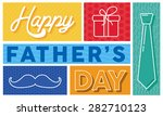 happy father's day   Shutterstock .eps vector #282710123