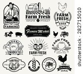 farm logotypes set. retro farm... | Shutterstock .eps vector #282715010