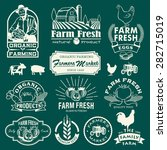 farm logotypes set. retro farm...   Shutterstock .eps vector #282715019