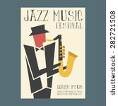 jazz music players with... | Shutterstock .eps vector #282721508