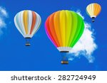 colorful hot air balloons in... | Shutterstock . vector #282724949