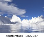 Alaska Glaciers With Water...