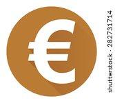 brown circle euro currency flat ...