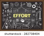 doodles about effort on... | Shutterstock .eps vector #282738404