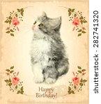 Happy Birthday Card With Fluffy ...