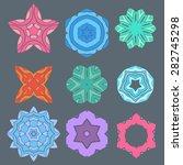 retro color geometry ornament... | Shutterstock .eps vector #282745298
