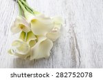 Bouquet Of White Calla Flowers...