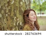 close up thoughtful pretty... | Shutterstock . vector #282763694