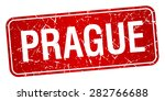 prague red stamp isolated on... | Shutterstock .eps vector #282766688
