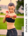 female fitness instructor... | Shutterstock . vector #282769274