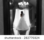 bride girl with long hair... | Shutterstock . vector #282770324