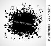 abstract music background with... | Shutterstock .eps vector #282776948
