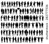 people silhouettes set | Shutterstock .eps vector #282777536