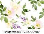 watercolor flowers. seamless... | Shutterstock .eps vector #282780989