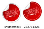 special offer stickers | Shutterstock .eps vector #282781328