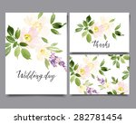watercolor greeting card... | Shutterstock .eps vector #282781454