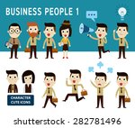 Businessman Character Cartoon...