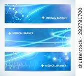 set technology medical banner... | Shutterstock .eps vector #282781700