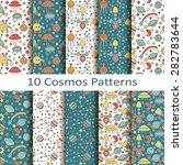 set of ten cosmos patterns | Shutterstock .eps vector #282783644