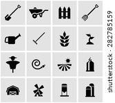 vector black farming icon set... | Shutterstock .eps vector #282785159