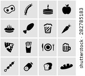 vector black food icon set. | Shutterstock .eps vector #282785183