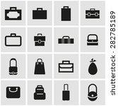 vector black bag icon set. | Shutterstock .eps vector #282785189