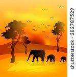 illustration of savanna... | Shutterstock . vector #282787529