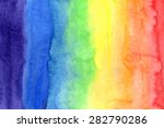 abstract watercolor rainbow... | Shutterstock .eps vector #282790286
