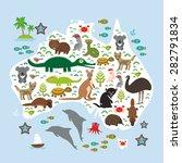 animals australia  echidna... | Shutterstock .eps vector #282791834