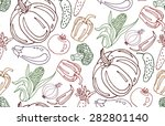 seamless pattern with... | Shutterstock .eps vector #282801140