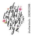 full alphabet. hand drawn... | Shutterstock .eps vector #282802388