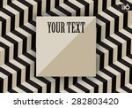 abstract geometric black and... | Shutterstock .eps vector #282803420